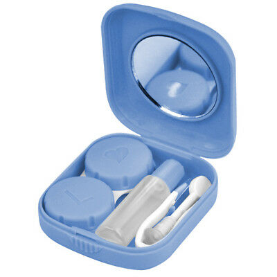 Blue Mini Contact Lens Travel Kit Case Pocket Size Storage Holder Container