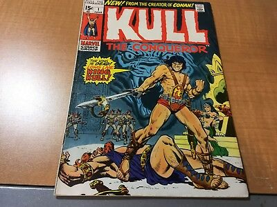 Kull The Conqueror 1972 Marvel Comic Book #1 EF