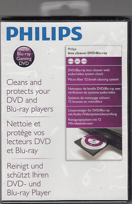 Philips Lens Cleaner für DVD , Blu-Ray , Gaming Systeme , Neu in OVP