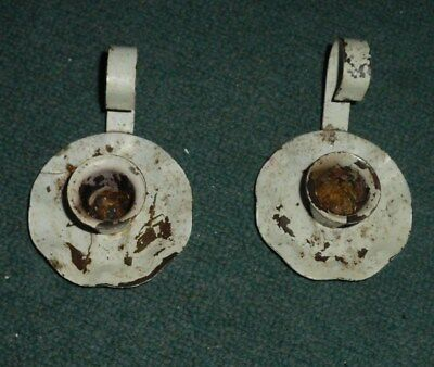Vintage Pair of two 2 Metal Candle Holders with Handles