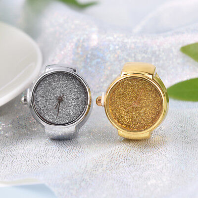 Fashion Unisex Ring Watches Creative Steel Bling Elastic Finger Analog Quartz@BD