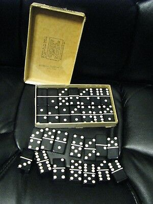 Vintage Puremco Black Extra Thick  Dominos