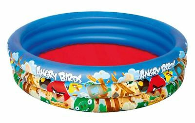 """Bestway Angry Birds 3-Ring Pool Inflatable Kids Wading Swimming Pool 60"""" x 12"""""""