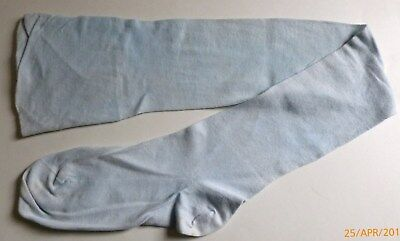Vintage 1930s WOMEN'S Cotton LIGHT BLUE Stockings HOSE
