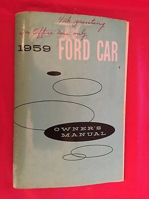 1959 Ford Car Owner's Manual