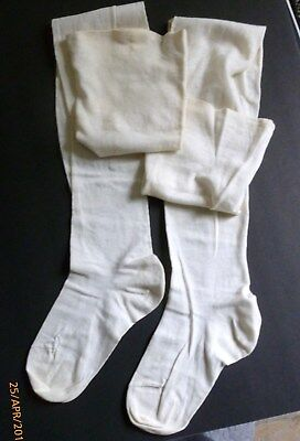 1920s-1930s Vintage WOMEN'S Off-White COTTON STOCKINGS