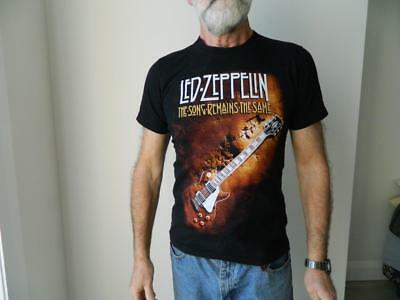 VINTAGE The Roxx Led Zepplin The Song Remaims The Same Heavy Metal Retro T Shirt