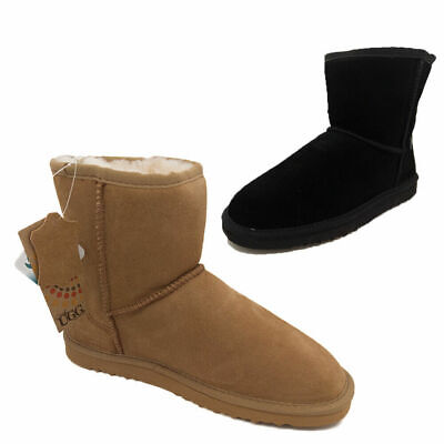Mens Slippers Uggs By Grosby Jackaroo Leather Sheepskin Lined boot Size 7-12 NEW