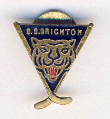 old BRIGHTON TIGERS Button Hole BADGE ice hockey pin SS BRIGHTON England UK