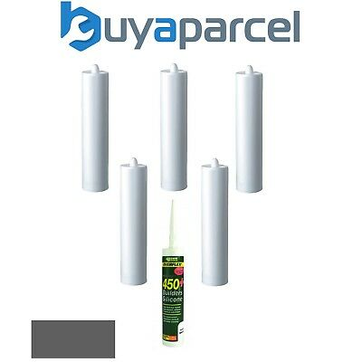 Everbuild Everflex 450 Builders Silicone Grey C3 Size Pack of 6