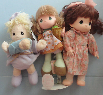 Precious Moments Dolls - Lot #6 Set of 3 Different Dolls