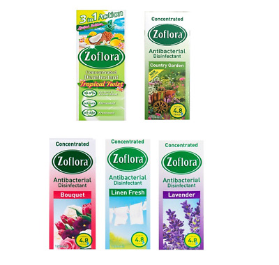Zoflora Concentrated Disinfectant 3in1 Elimates Odours 56ml All scents Available
