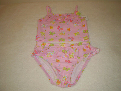 Target Pink With Butterflies And Flowers 2 Piece Bathers Size 2 New