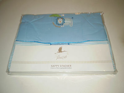 La Petite B Lion Little Explorer Blue With Stripes Nappy Stacker New