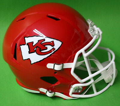RIDDELL Deko NFL Helm Full size Football-Helmet ** Kansas City Chiefs ** - Rot