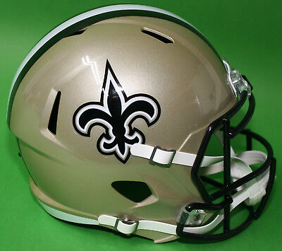 RIDDELL Deko NFL Helm Full size Football-Helmet ** New Orleans Saints ** - GOLD