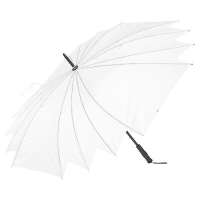 White Waterproof Wedding Bride Bridesmaid Umbrella Large Handle Bridal Rain NEW