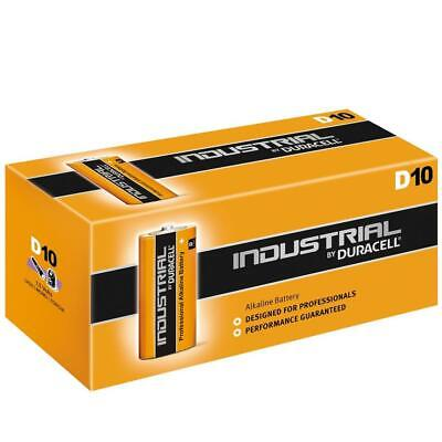 10 x Duracell D Size Industrial Alkaline Batteries LR20 Cell MN1300 Mono Procell
