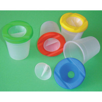 Major Brushes Standard Waterpot Pack of 10 with Lids and Stoppers