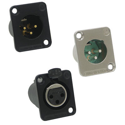 Switchcraft DE3F XLR 3 Pin Female Connector Unified Housing