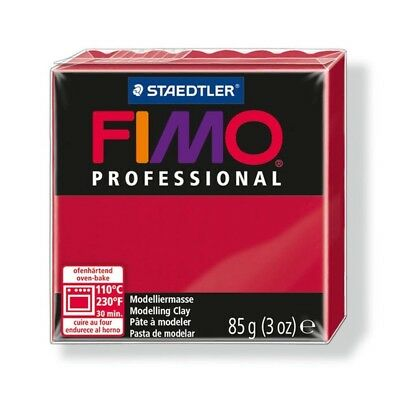 85g Carmine Fimo Modelling Clay - Professional Polymer Oven Bake Moulding Block