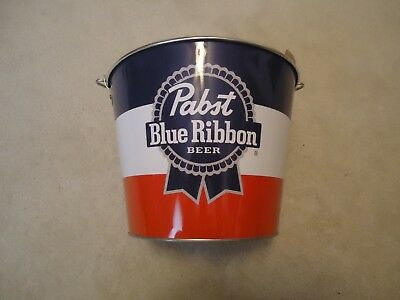 New Pabst Blue Ribbon PBR Galvanized Metal Ice Beer Bucket Pail