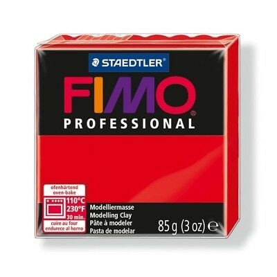 85g True Red Fimo Modelling Clay - Professional Polymer Oven Bake Moulding Block