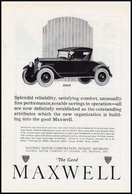 1920s vintage ad for Maxwell Automobiles -898