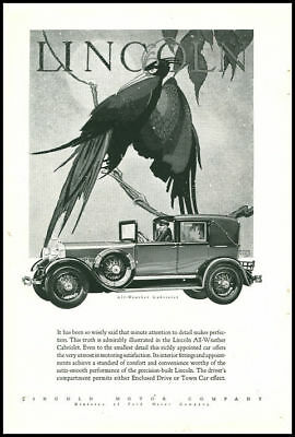 1920s vintage ad for Lincoln Automobiles