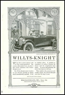 1920s vintage ad for Willys-Knight automobiles