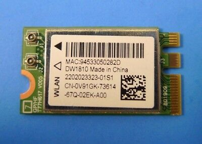 Inspiron 15-5567 17-5765 DW1810 WLAN WiFi +Bluetooth Dual Band Cards A00 V91GK