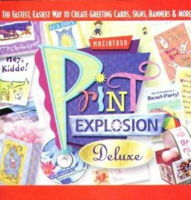 print explosion deluxe mac cd create design greeting cards signs banners graphic