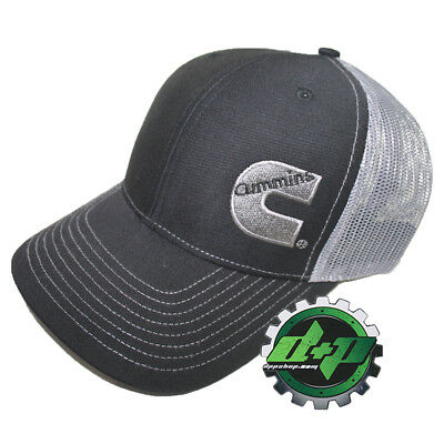 Dodge Cummins trucker hat ball mesh richardson grey black snap back cummings