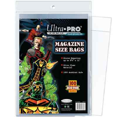 100 Ultra Pro Magazine Storage Bags and  Boards New Factory Sealed