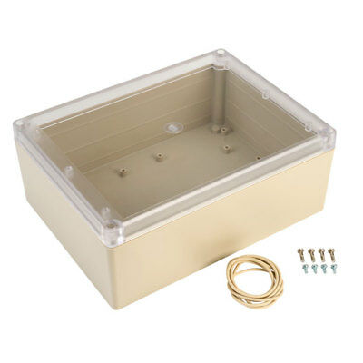 Hammond RP1465C Watertight ABS Enclosure 220 x 165 x 85 Clear Lid Grey