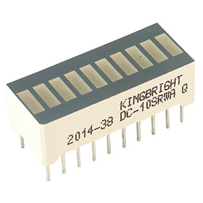 Kingbright DC10SRWA 10 Bar S Red DIL LED Display