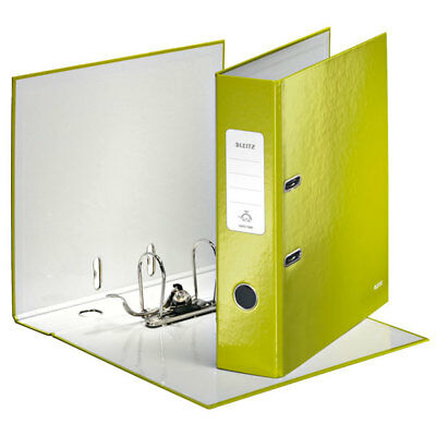 Leitz Green Lever Arch File Laminated WOW 180° A4 80mm