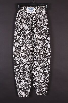 Vtg 80S International Baggyz Skull Print Hammer Pants Youth Medium Ds Nwots