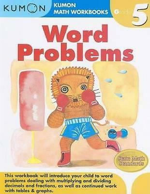 NEW Grade 5 Word Problems By KUMON PUBLISHING Paperback Free Shipping