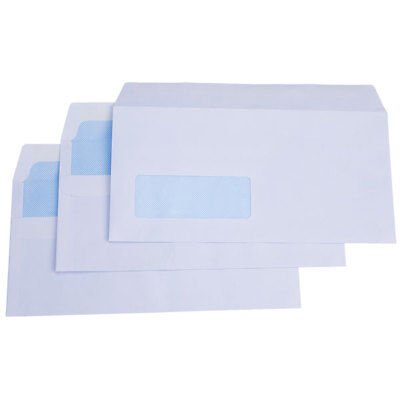RVFM Dl White Self Seal Wallet Envelope with Window - Box of 1000