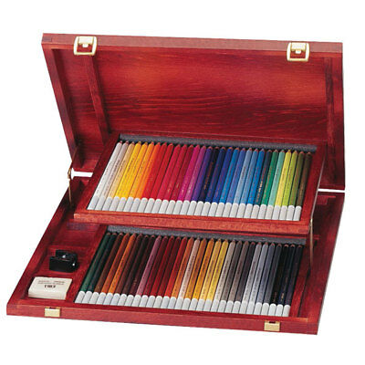 STABILO Art Products Carbothello Wooden Case, 60 Chalk Pastel Coloured Pencils