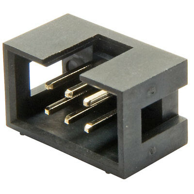 TruConnect 6 Way Idc Straight Boxed Header 2.54mm Pitch