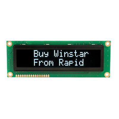Winstar WEH001602HLPP5N00000 16x2 Yellow Large Character OLED Display