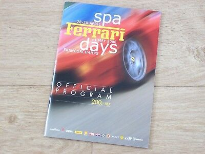 2000 Programme Spa Ferrari days Francorchamps, brochure