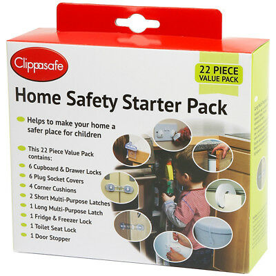 Clippasafe UK Home Safety Starter Pack Baby Proofing (22 Piece)