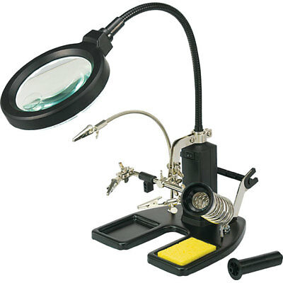 Toolcraft 826054 Helping Hand LED Magnifier Lamp