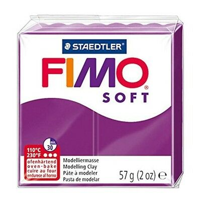Fimo Soft Modelling Clay, Purple Violet, 57 G - Clay Polymer 57 Oven Bake