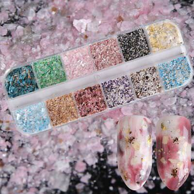 Nail Art Glitter Marble Powder Dust For UV GEL Acrylic Powder Sequins Decor Tips
