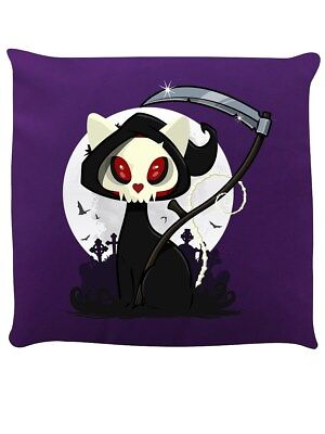 Beelzebub The Cat Reaper Purple Cushion 40 x 40cm