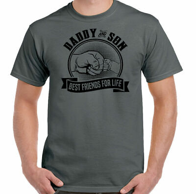 Daddy & Son Best Friends For Life Mens Funny Father's Day T-Shirt Dad Gift Card